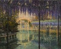 terrasse sous une treille de lilas by georges victor laurent dantu
