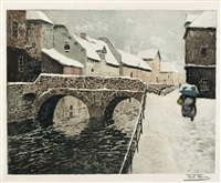 pont d'amiens by frits thaulow