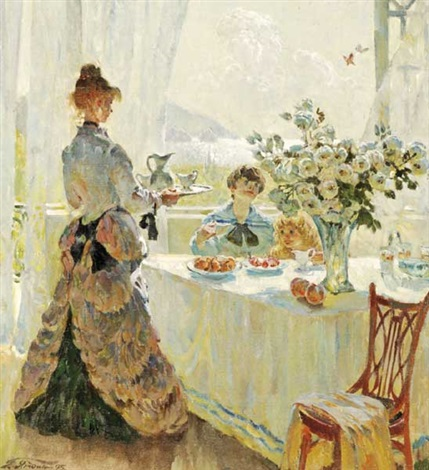 afternoon tea at the palace by henry yagodkin