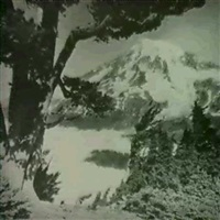 landscape with mountain                   (orotone) by asahel curtis