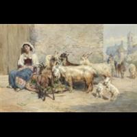 sovande italiensk flicka by charles h. poingdestre