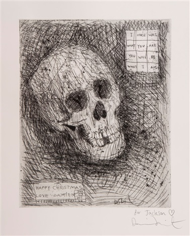 happy christmas skull by damien hirst