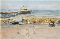 a sunny day on the boulevard, scheveningen by isaac israels