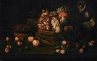 grande canestra con frutta e scimmietta by jacob van hulsdonck