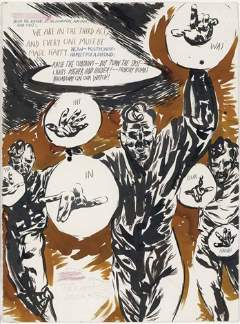 untitled from the backers by raymond pettibon