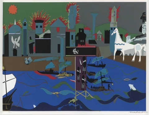 odysseus leaves from odysseus suite by romare bearden