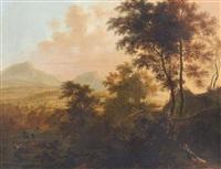 paesaggio con figure by frederick de moucheron