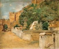 arrabal del castillo de alcalá de guadaíra, arco de san miguel by jose arpa y perea