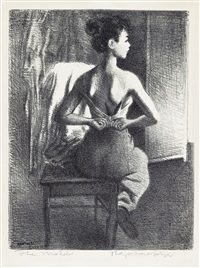 young model by raphael soyer