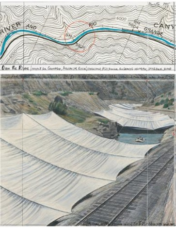 over the river project for colorado arkansas river in 2 parts by christo and jeanne claude
