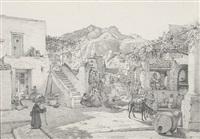dorfstraße in lacco ameno auf ischia (preliminary study) by maximilian albert hauschild