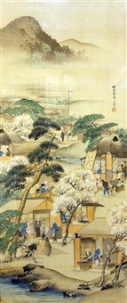 a kyoto shijo school painting by moikawa sobun