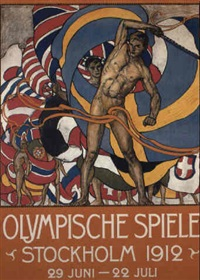 stockholm 1912 olympics by posters: sports - olympics