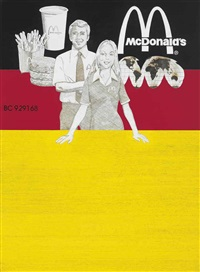 untitled (mcdonald's stock certificate, german version) by tom sachs