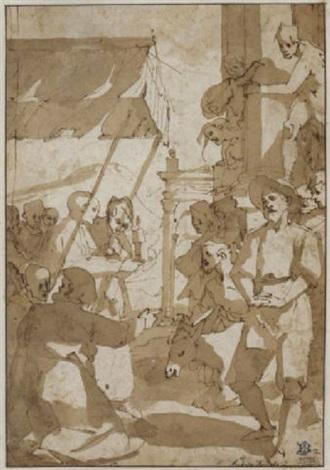 das eselswunder szene aus dem leben des heiligen antonius von padua by andrea boscoli