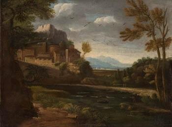paisaje con lago by gaspard dughet