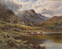 loch achray, perthshire by henry decon hillier