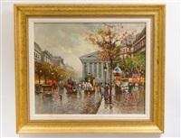 parisian grand boulevard by antoine blanchard