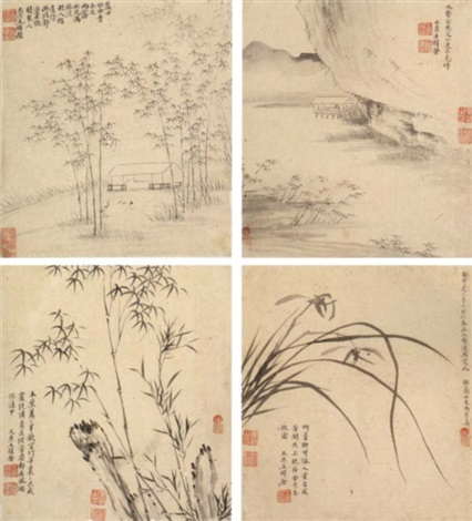 landscapes and flowers by ma shouzhen