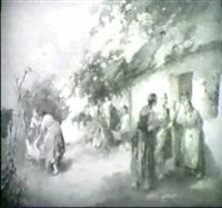 tratsch vor dem bauernhof by agoston acs