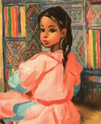 le petite fileuse marocaine by charles ernest smets