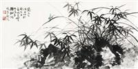 花卉 镜片 设色纸本 by li xiongcai