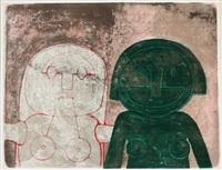 dos cabezas de mujer by rufino tamayo