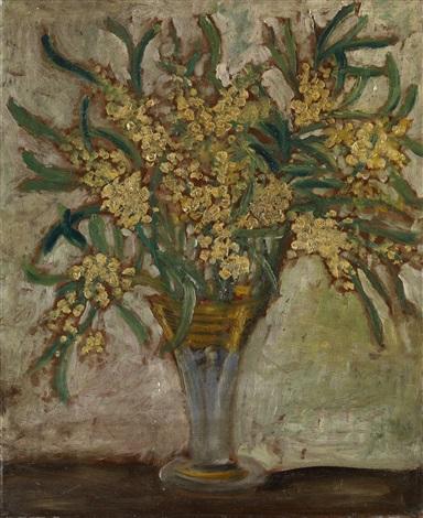 still life with mimosa by natalia sergeevna goncharova