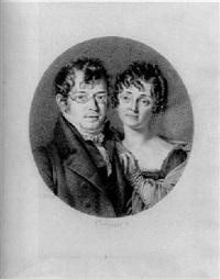 a double-portrait of monsieur and madame jacques-louis etienne reiset by jean jacques karpff