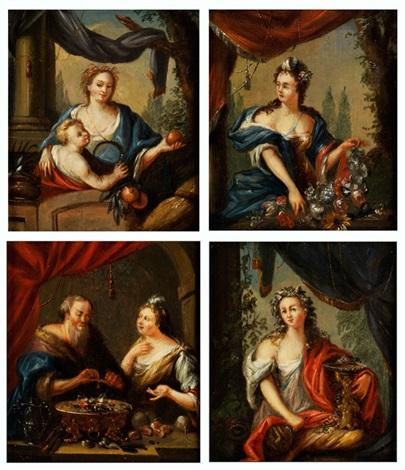 die vier jahreszeiten 4 works by pieter cornelisz van slingeland