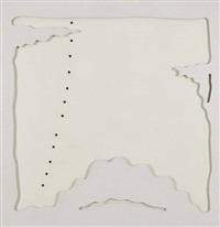 concetto spaziale teatrino (bianco) by lucio fontana