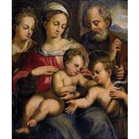 die heilige familie mit dem johannesknaben und der katharina von alexandrien by innocenzo di pietro (da imola) francucci