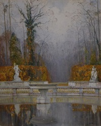 fountain at versailles by isidore rosenstock