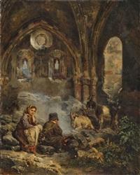 hirtenkinder in der kapelle von schloss tourbillon bei sitten by raphael ritz