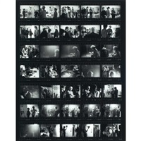 andy warhol and bob dylan contact sheet by nat finkelstein