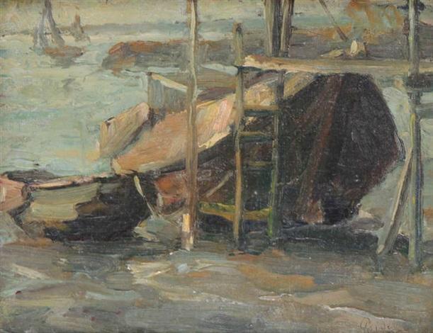 bateaux près de lestacade by kurt peiser