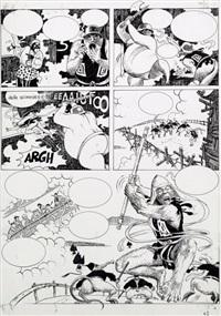 le singe planche originale n°62 by milo manara