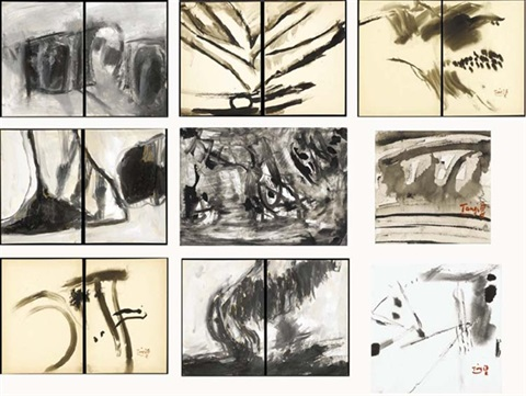 abstract landscape in 9 parts by tang haywen