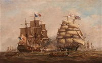 a naval engagement, battle of trafalgar by denzil smith