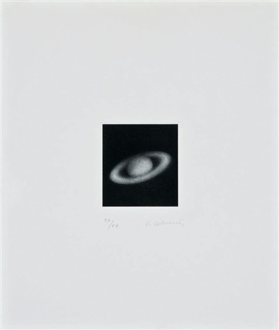 book and untitled saturn by vija celmins