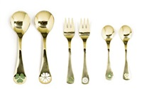 service (model de nouvel an) (set of 18) by annelise bjorner and rigmor andersen