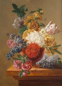 nature morte avec vase de fleurs by pieter faes