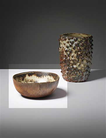 bowl in the knurled style by axel johann salto