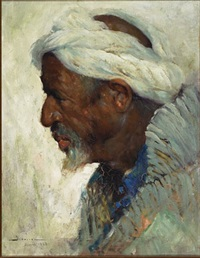 profile portrait of an arab by carlos abascal