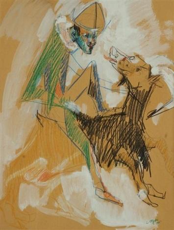 larlequin et la chèvre by bernard lorjou