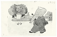babar puts on his thinking crown by jean de brunhoff