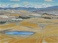 foothills landscape by john harold thomas snow