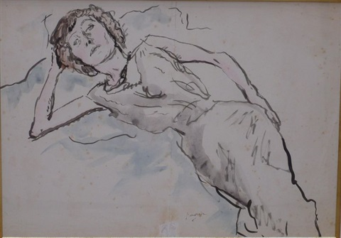 portrait dhermine david by jules pascin