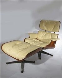 lounge chair and ottoman (pair) by herman miller