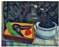 nature morte aux aubergines by edmond charles kayser